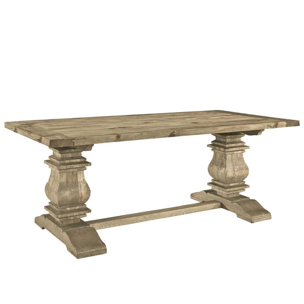 Modway Dining Tables On Sale Eei 1199 Brn Column Rustic