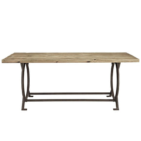 industrial modern furniture. Effuse Industrial Modern Rectangle Wood Top Dining Table Furniture