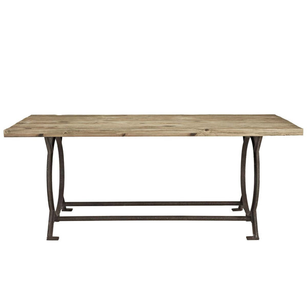 Industrial Modern Dining Room Table: Modway Dining Tables On Sale. EEI-1205-BRN Effuse