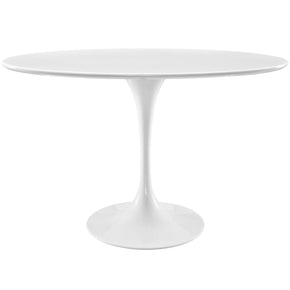 "Dining Tables - Modway EEI-2017-WHI Lippa 48"" Oval Wood Top Dining Table 