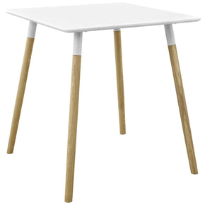 "Dining Tables - Modway EEI-2667-WHI-SET Continuum 28"" Modern Square White Dining Table 