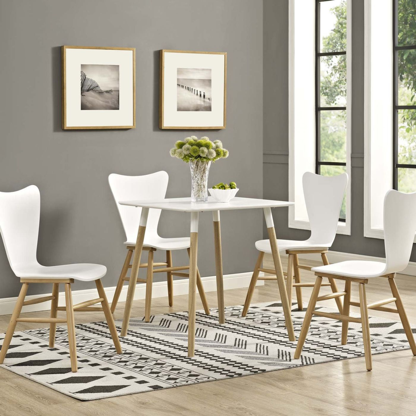 Modern square white dining table -  Continuum 28 Modern Square White Dining Table