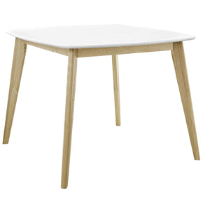 "Dining Tables - Modway EEI-2669-WHI Stratum 40"" White Square Mid-Century Inspired Dining Table 