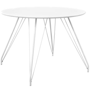 Satellite Circular Dining Table White