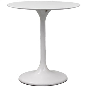Lippa 28 Round Fiberglass Dining Table White