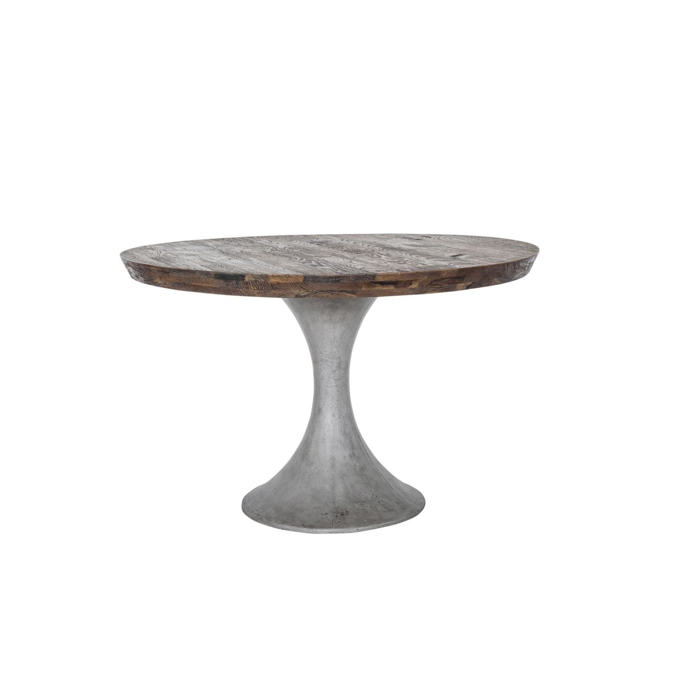 Best Price On Moe S Home Collection Bq 1015 03 Aaron Round Dining Table Solid Oak Concrete 47 5 Only 1 424 00 At Contemporary Furniture