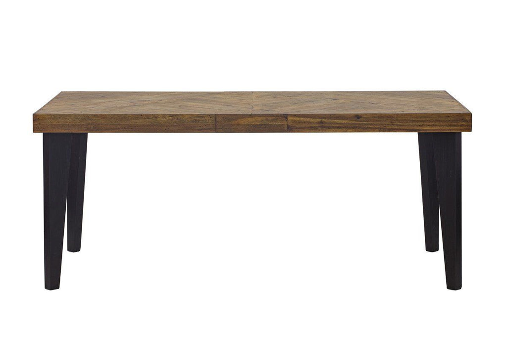 Parq Parquet Patterned Wood Rectangular Dining Table