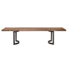 Bent Rustic & Natural Dining Table Large Smoked With Unfinished Edges