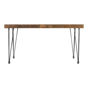 Boneta Dining Table Small Natural Rustic Pine Wood