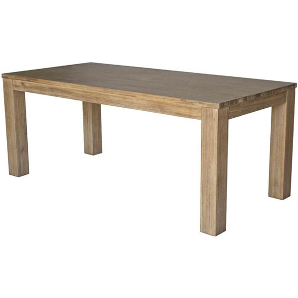 Bedford 75 Rect. Dining Table Square Legs Brushed Smoke