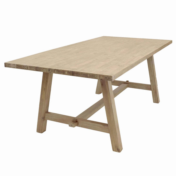 Bedford 79 Rect. Dining Table A Base Brushed Smoke