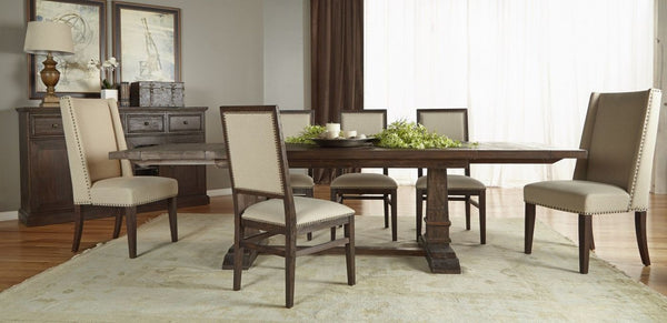 Hudson Extension Dining Table Rustic Java