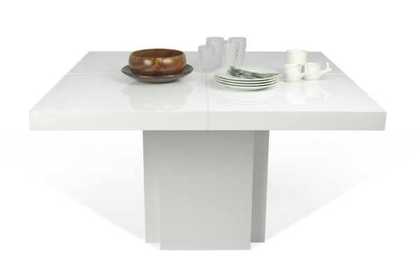 Dusk 51 Dining Table High Gloss White