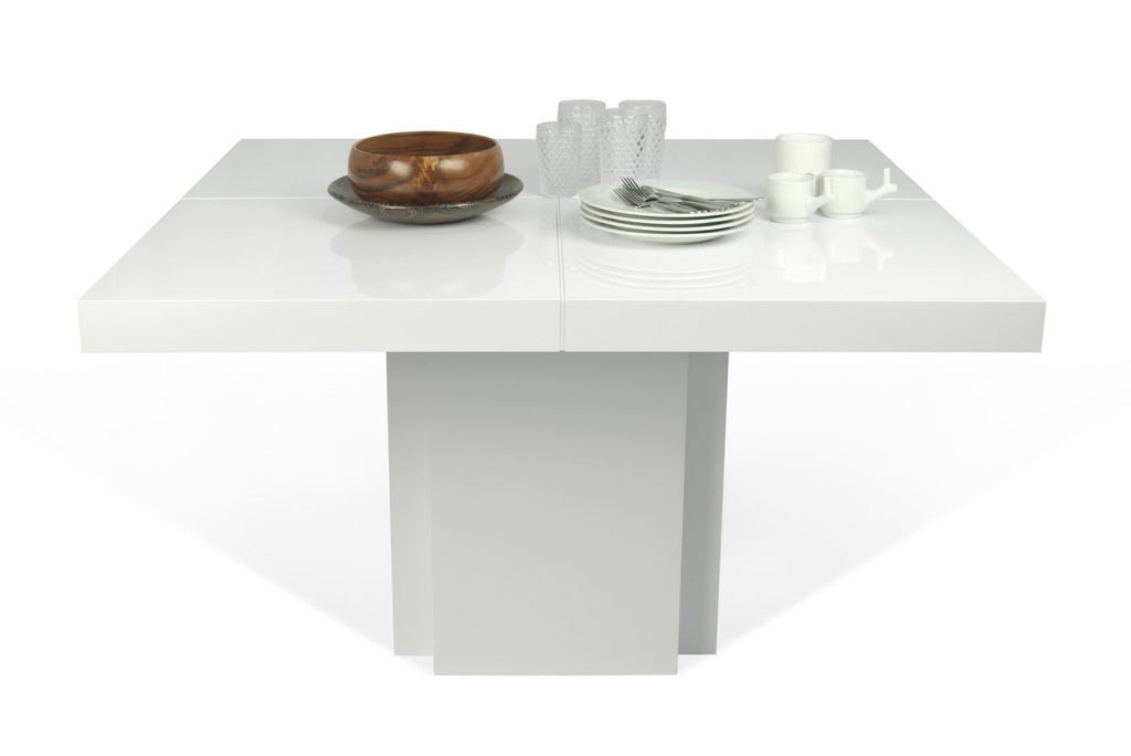 "Dining Tables - TemaHome 9500.612619 Dusk 59"" Dining Table High Gloss White 