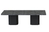 Dusk 2 - Set Of Two 51'' Tables Faux Concrete / Pure Black