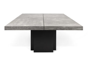 Dusk 59 Dining Table Faux Concrete / Pure Black