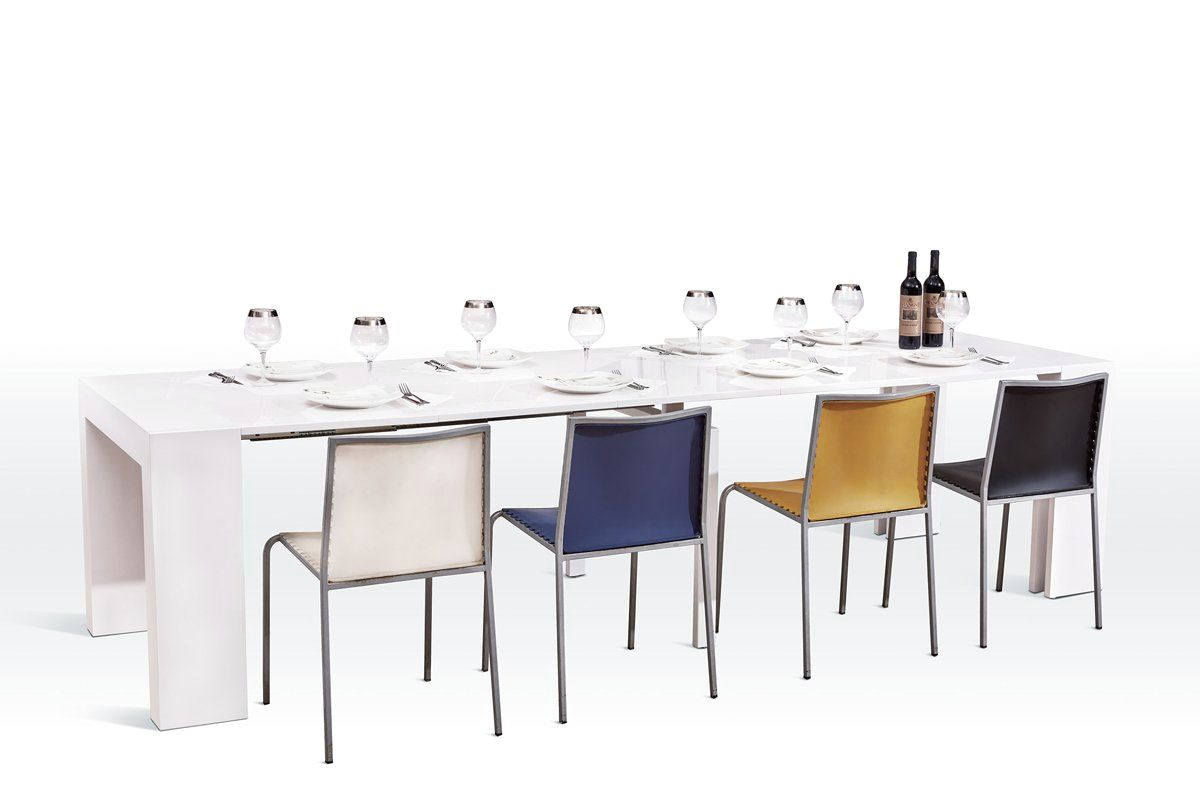 Extendable dining tables at contemporary furniture warehouse