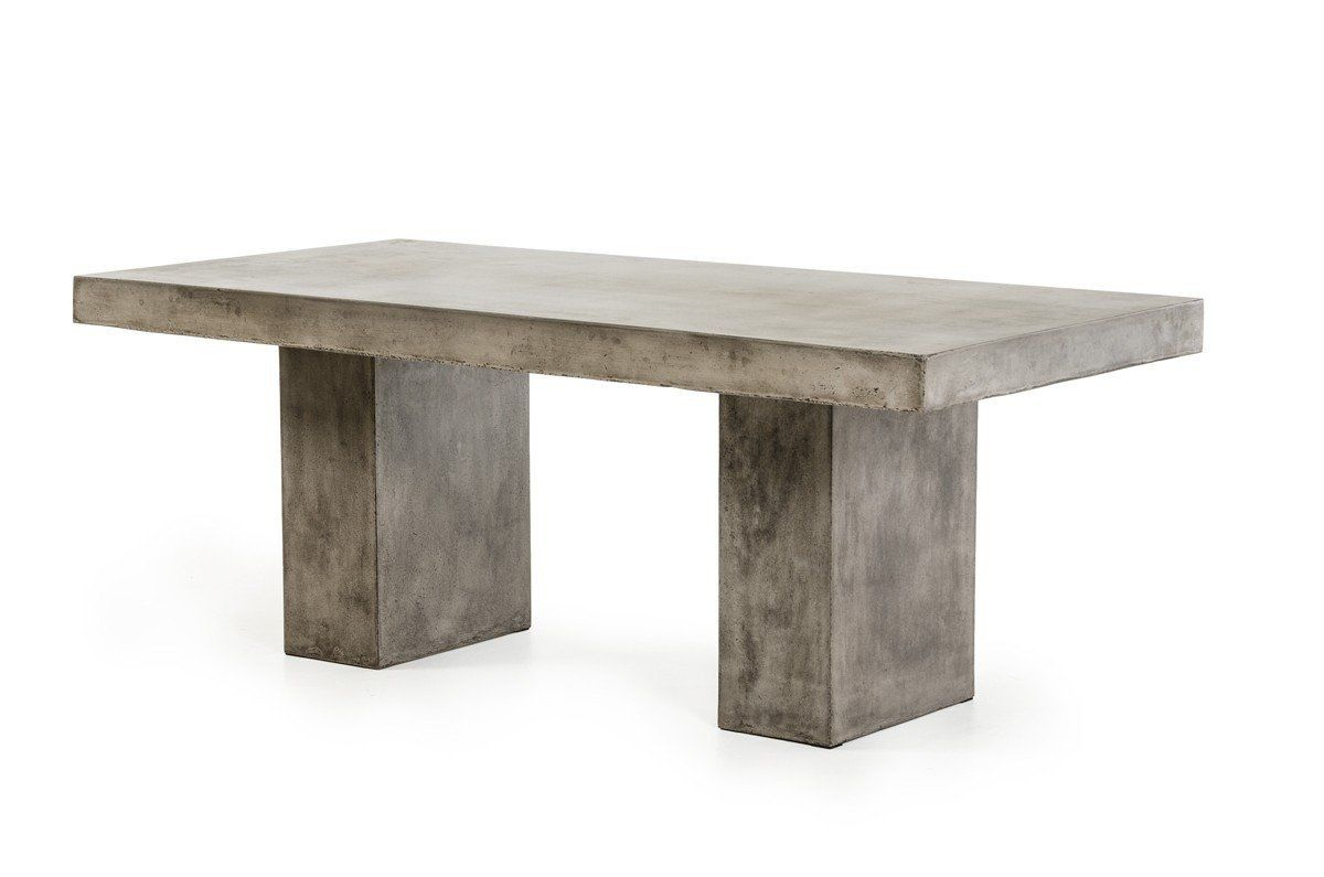 concrete outdoor dining table Modern Concrete Dining Tables at Contemporary Furniture Warehouse concrete outdoor dining table