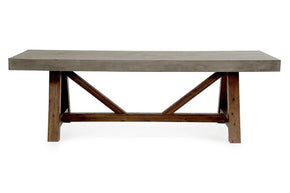 Modrest Revok Modern Concrete & Acacia Dining Table