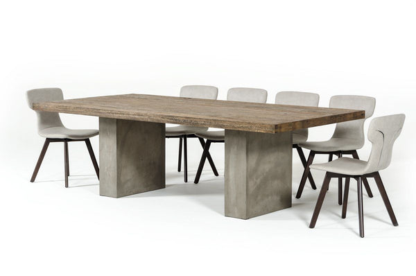 Super Vig Furniture Vggrrenzo Modrest Renzo Modern Oak Concrete Dining Table 71 118 Sale At Contemporary Furniture Warehouse Today Only Interior Design Ideas Clesiryabchikinfo
