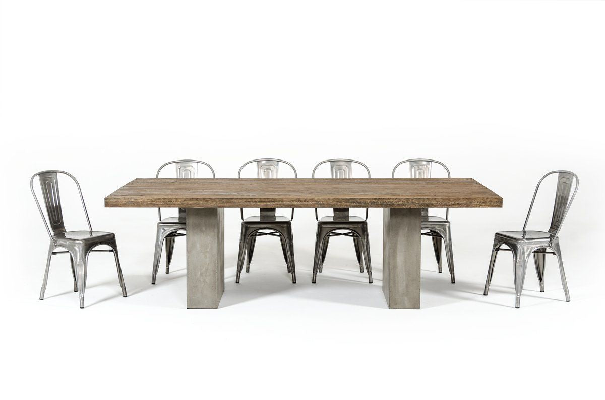 Cement Concrete Furniture Accessories Beds Benches Bookcases - Cement look dining table