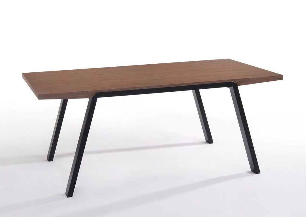 Modrest Quinn Modern Walnut U0026 Black Dining Table ...