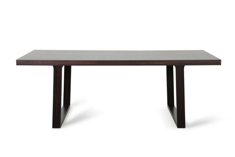 A&x Caligari Modern Brown Oak Dining Table
