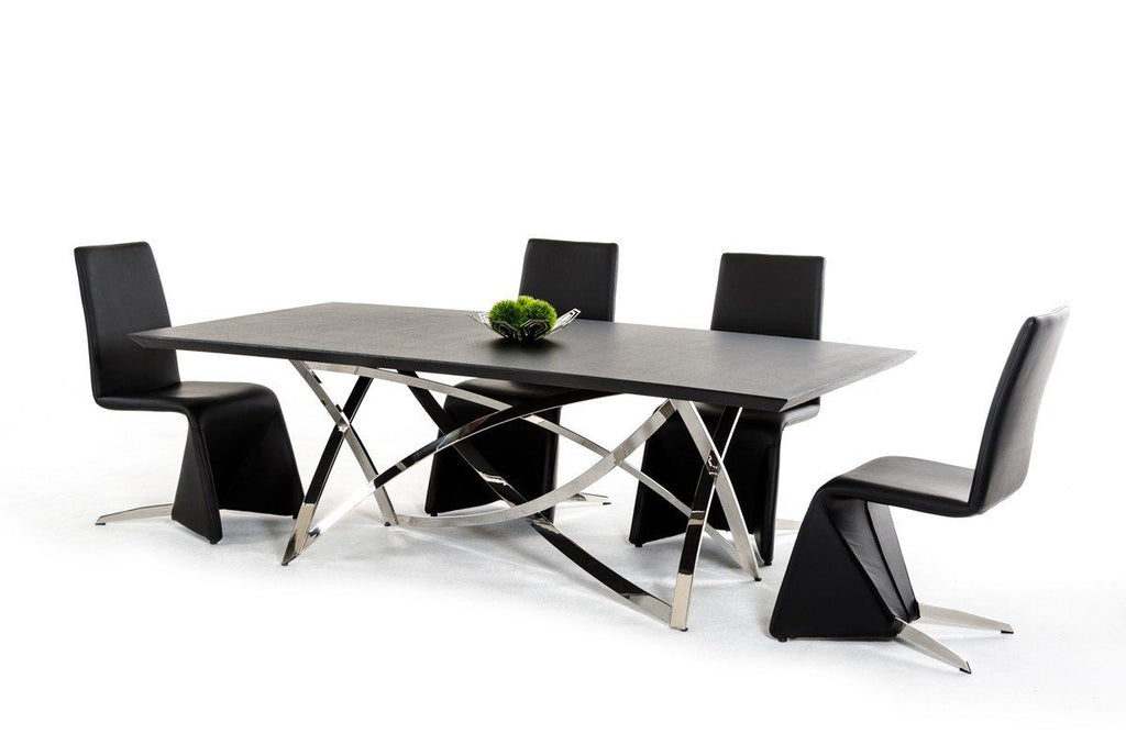 Modrest Labyrinth Modern Wenge Dining Table ...