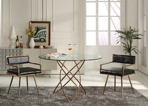 round chairs for bedrooms. Modrest Rosario Modern Round Rose Gold Dining Table Chairs For Bedrooms