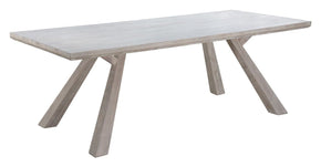 Beaumont White-Washed Rectangular Dining Table