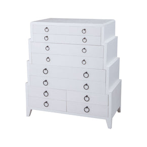 Grand Ziggurat Dresser Natural Raffia,white