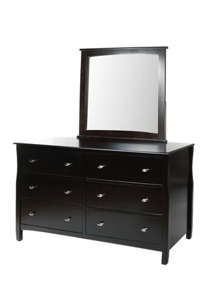 Feinstein Contemporary 6-Drawer Dresser And Mirror In Espresso