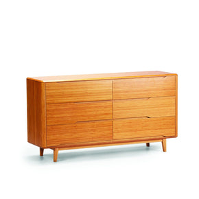 Dressers - Greenington G0030CA Currant Six Drawer Dresser Caramelized Bamboo | 852659194650 | Only $2072.50. Buy today at http://www.contemporaryfurniturewarehouse.com