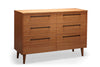 Sienna Six Drawer Dresser Bamboo Carmalized