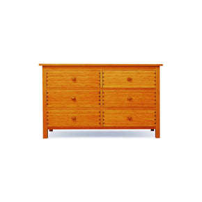 Hosta Six Drawer Dresser Carmalized