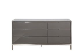 Naples Dresser Grey Brushed Stainless Steel