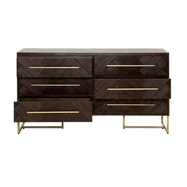 Dressers - Orient Express Furniture 6049.RJAV Mosaic Double Dresser Rustic Java | 842279102098 | Only $1579.00. Buy today at http://www.contemporaryfurniturewarehouse.com