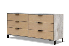Nova Domus Conner Modern Light Walnut & Concrete Dresser