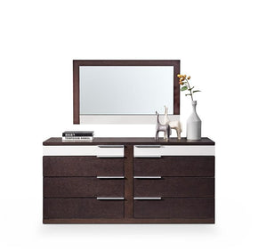 Modrest Torino Modern Brown Oak & Grey Dresser