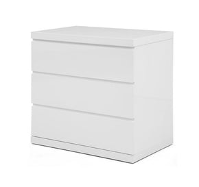 Anna Dresser Single High Gloss White