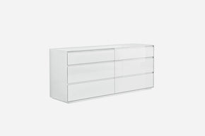 Malibu Dresser High Gloss White