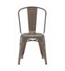 Dreux Rustic Matte Steel Stackable Side Chair (Set of 2)