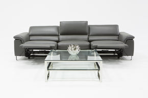 Vig Furniture VGKNE9104-ECO-DK-GRY Divani Casa Maine Modern Grey Eco-Leather Sofa w/ Electric Recliners