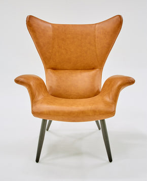 Vig Furniture VGBNEC-067-COG Divani Casa Slater Modern Cognac Leatherette Lounge Chair