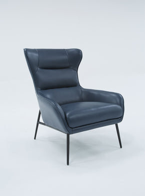 Vig Furniture VGBNEC-084-BLU Divani Casa Susan Modern Blue Leatherette Lounge Chair