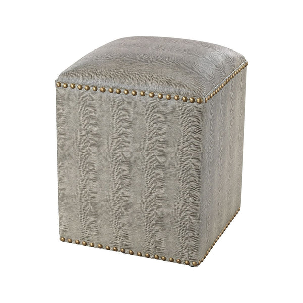 Beaufort Point Square Bench Grey Ottoman