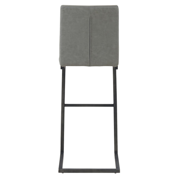 Ronan PU Leather Bar Stool (Set of 2) Antique Graphite Gray