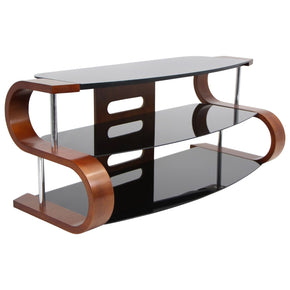 Metro 120 Tv Stand Birch And Black Entertainment