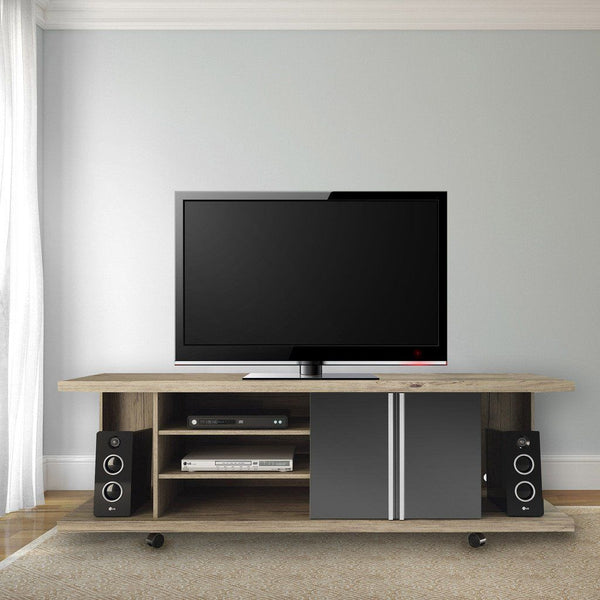 Carnegie Tv Stand In Nature And Onyx Entertainment