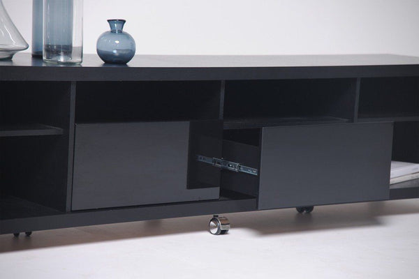 Entertainment Stands - Manhattan Comfort MHC-15313 Cabrini TV Stand 2.2 in Black Gloss and Black Matte | Only $597.90. Buy today at http://www.contemporaryfurniturewarehouse.com